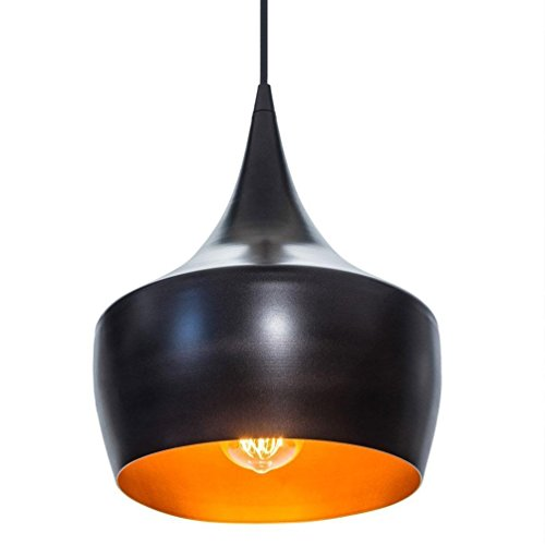 Vintage Conception Luminaire pendentif Industrielle Mini Simple Luminaires suspendus Noir Ronde Fer Aluminium Abat-jour de lampe Hauteur réglable Tête simple Lustre Pour Cuisine Couloir Loft Edison Lu