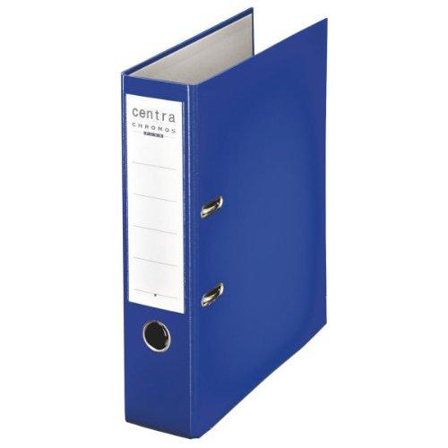 Preisvergleich Produktbild Centra 230132 Standard-Ordner (grauappe RC, mit PP-Folie kaschiert, A4, 8 cm Rückenbreite, Chromos) blau