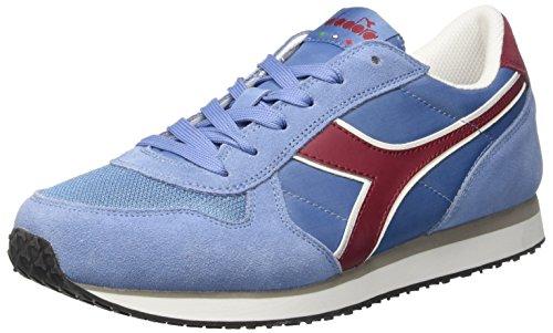 Diadora Herren K-Run II Sneaker Low Hals, Dark Blue/Ferrari Red Blau (Azzurro Ghiaccio)