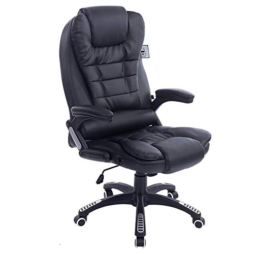Xia&sgabelli sedia per computer da gioco, seggiolone per bambini in pu ergonomico ufficio pc girevole sedie da scrivania con braccioli, regolazione altezza (nero, marrone) (colore : nero)