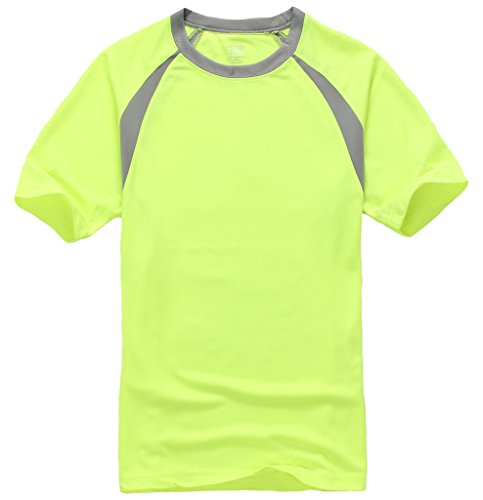 Bigood T-Shirt Quick Dry Homme Chemise Col Rond Manche Courte Sport Randonnée Running