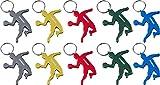 munkees 10 x Schlüsselanhänger Handballer I Handball-Anhänger I integrierter Flaschenöffner I 10 Stück, 10er Pack, 34980