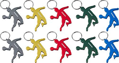 munkees 10 x Schlüsselanhänger Handballer I Handball-Anhänger I integrierter Flaschenöffner I 10 Stück, 10er Pack, 34980 (10 K Anhänger)