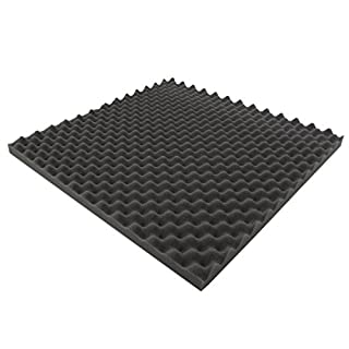 Akustikpur 1 m² (= 4 Pieces Each Approx.49 cm x 49 cm x 3 cm) Napped Acoustic Insulating Foam