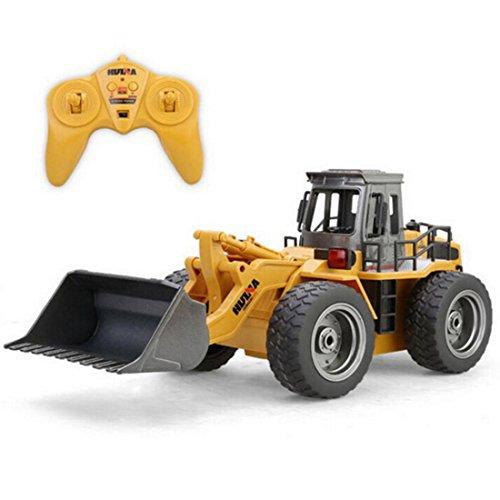Bulldozer Spielzeug, Teckpeak 1:18 Fernbedienung Baufahrzeuge 6CH Bulldozer Fahrzeuge Kinder Spielzeugauto