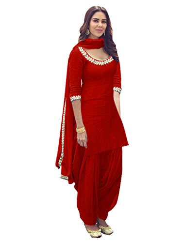 Sancom Women's Poly Cotton Embroidery Work Unstitched Salwar Suit -71324D