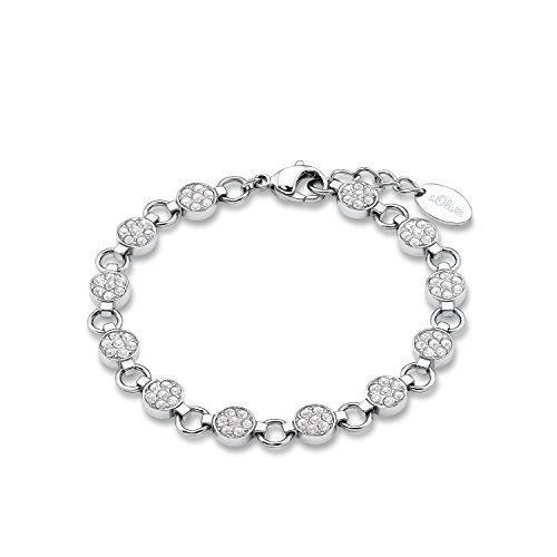 s.Oliver Damen Armband Edelstahl Swarovski Kristall® Silber