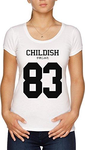 Childish Jersey Damen T-Shirt Weiß - Wayne Shirt Rosa Lil