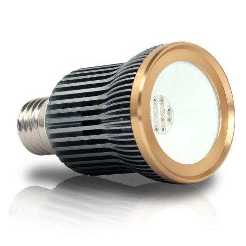 eSmart Germany Pflanzenlampe Faye | LED Pflanzenlicht | Pflanzenleuchte | Wachstumslampe für Hauspflanzen Wasserpflanzen | 12 Watt (800 lm) | 8:1:3 | rot, orange, blau