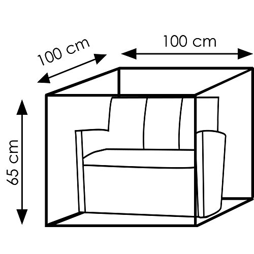 Wehncke Schutzhülle Deluxe für Rattan Sessel Lounge Sessel 100 x 100 x 65 cm