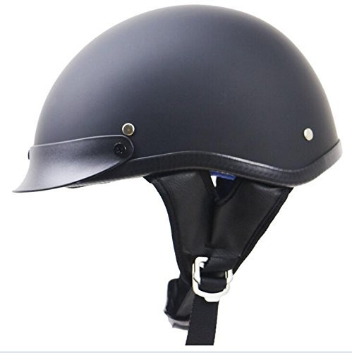 Commencer, casco a scodella per motociclette, cruiser e chopper, approvato DOT