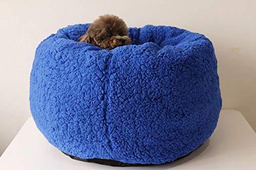 Luxus Shag Fuax Fell Donut Kuschelkissen rund Donut Haustier Bett Kunstfell Hundebett für mittelgroße kleine Hunde selbstwärmend Indoor Round Kissen Kuschelkissen -