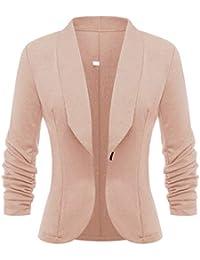 c9ceb70dfb67 Damen Business Blazer Tailliert Kleine Anzug Slim Büro Jacke Langarm Casual  Sweatblazer Kurzblazer Mantel Jacke Outwear