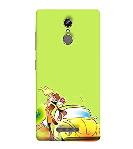 Love Couple 3D Hard Polycarbonate Designer Back Case Cover for Gionee S6s