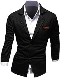 Jeansian Moda Chaqueta Traje Blusas Chaqueta Hombres Mens Fashion Jacket Outerwear Tops Blazer 8980