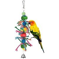 Taonmeisutm Parrot jouet à mâcher pour oiseau Perroquet africain Greys Éclectus perruches perruches cacatoès Amazones Calopsittes inséparables canaris Cage cloches Bois jouet