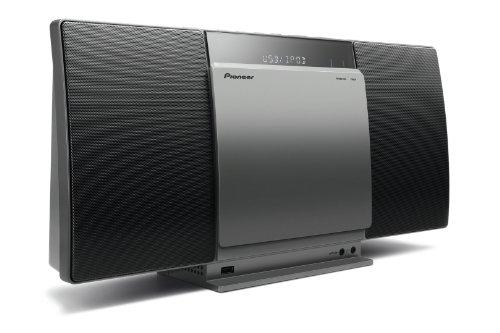 Pioneer X-SMC01BT-S Micro Hifi-System (2x 10 Watt, Bluetooth, Front-USB, CD-Laufwerk) silber
