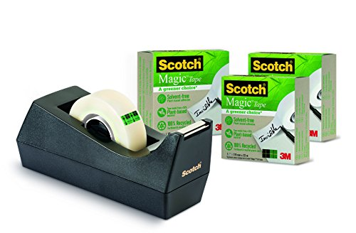 Scotch Magic 9-1933R3C38 - Pack de 4 dispensadores de cinta de embalaje,...