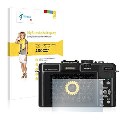 Vikuiti ADQC27 Displayschutz Schutzfolie Panasonic Lumix DMC-LX7 (Kristallklar und Reflexmindernd, Blasenfreie Montage, Passgenauer Zuschnitt)