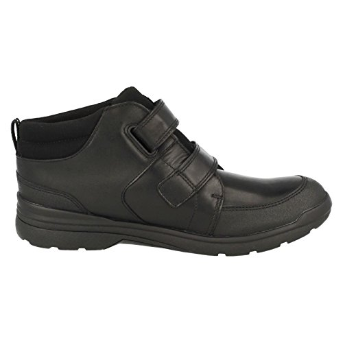 Clarks LorisTop GTX BL Boys School chaussures en noir Black Leather