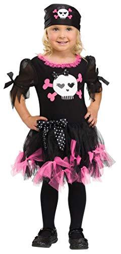 Sally Kostüm Baby - Horror-Shop Sally Skully Seeräuber Mädchen S