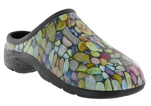 shoeshoebedoClogs - Retro aperto Unisex adulti Pebble