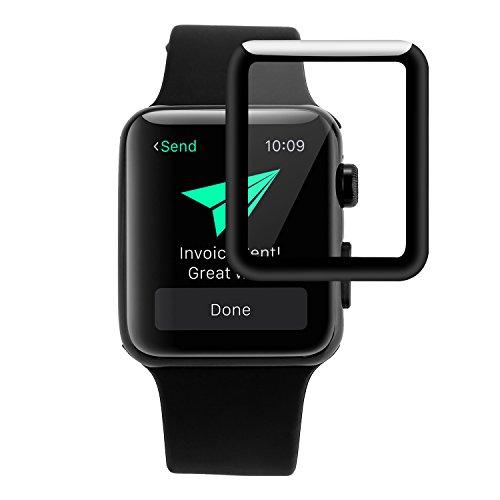 Liamoo Schutzglas kompatibel mit Apple Watch Serie 1, 2, 3, in 42mm Glas/Panzerfolie/Folie/Display-Schutz/Displayschutzglas