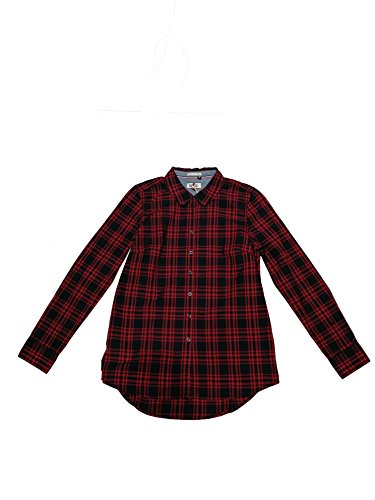 Tommy Hilfiger - Camisa Basic Check Mujer - Color:Rojo/Azul (XS)