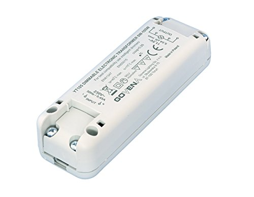 0W - 105W Dimmable Electronic Transformer YT105 - low voltage halogen and 12Vac LED lights; Elektronisch Dimmbar Transformator, Trafo -