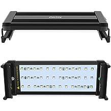 Deckey Lámpara de Acuario Luces para Acuarios y estanques Se aplica a 30-50 cm 6W 24 LED Blanco y 12 LED Azul con Enchufe EU