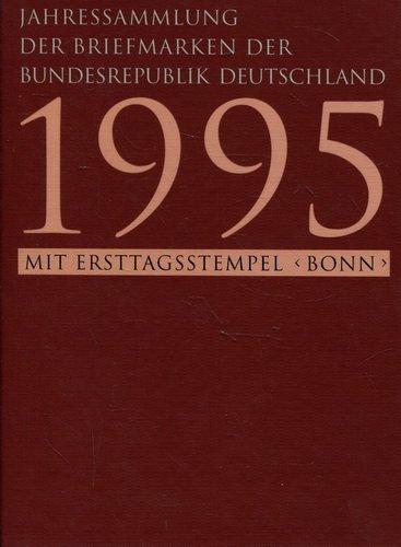 JAHRESSAMMLUNG DER POSTWERTZEICHEN DER DEUTSCHEN BUNDESPOST 1995 MIT ERSTTAGSSTEMPEL < BONN >