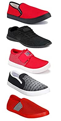 WORLD WEAR FOOTWEAR Sports Running Shoes/Casual/Sneakers/Loafers Shoes for MenMulticolors (Combo-(5)-1219-1221-1140-720-782)