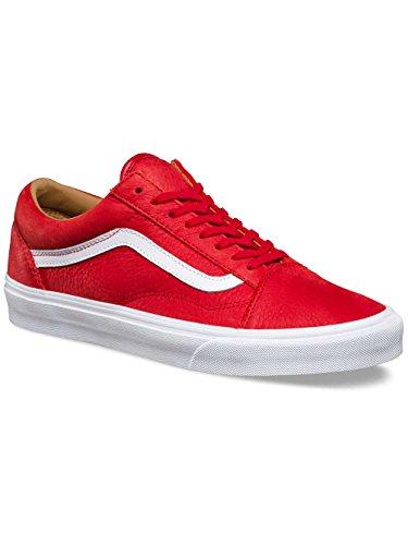 Vans Ua Old Skool, Scarpe da Ginnastica Basse Uomo (premium Leather) Racing Red/true White