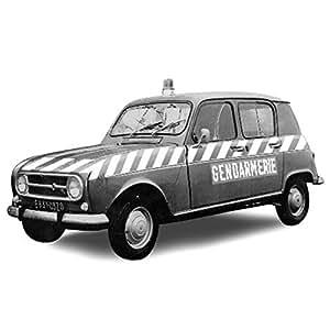 Norev 510049 - Véhicule Miniature - Renault 4 1968 - Gendarmerie-Peloton d'autoroute - Echelle 1:43