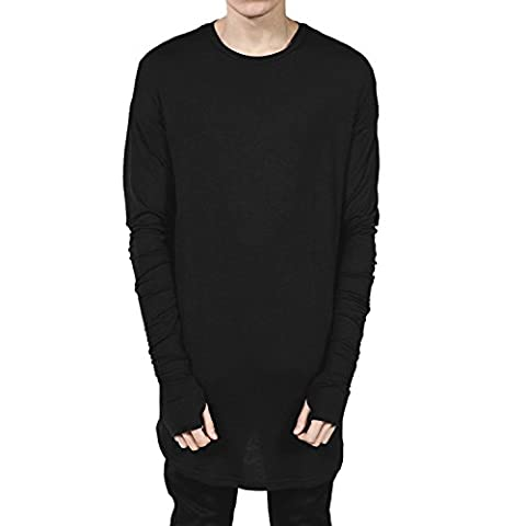 T Shirt Homme Oversize - Chouette Homme T-shirt Loose Manches Longues Blouse