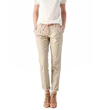 Promod Pantalon chino en toile femme Beige clair 38