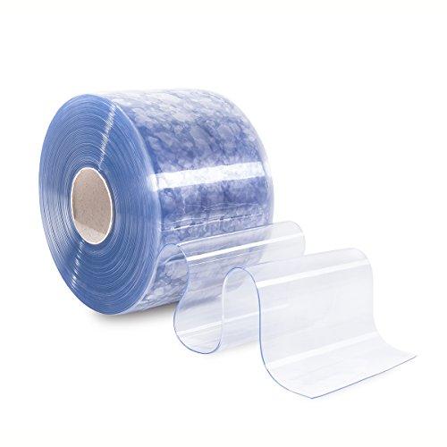 PVC Lamellenvorhang Streifenvorhang Lamellen transparent 30cm breit (Meterware)