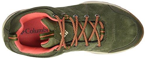 Columbia Fire Venture Waterproof, Chaussures Multisport Outdoor Femme Vert (Nori, Corange)