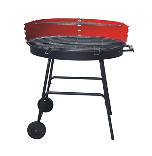 Bbqer-a acciaio all'esterno del carbone di legna barbecue del grill lungo le ultime due rotelle stufa del barbecue facile assemble portable stabile forno