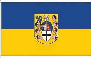Königsbanner Kleinfahne Brühl mW - 20 x 30cm - Flagge und Fahne