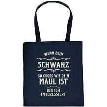 Tragetasche Baumwoll Einkaufstasche Wenn dein … lustige Sex Sprüche Tasche