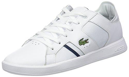 Lacoste Sport Herren Novas 318 2 SPM Sneaker, Weiß (Wht/NVY 042), 45 EU