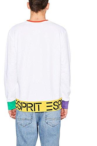 ESPRIT Herren Sweatshirt Weiß (White 100)