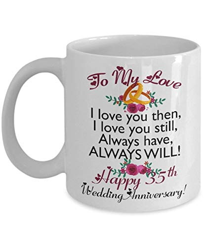 35th Wedding Anniversary Gift.35th Wedding Anniversary Gifts For Men Women Wife Husband Her Him Couples Funny Coffee Mug Cup Set Best Married Engagement Valentines Day Gift Idea