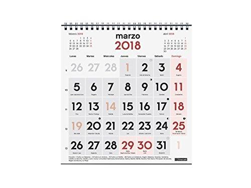 Calendario Spagnolo.Finocam Neutro Calendario Da Tavolo 2018 Con Numeri Grandi