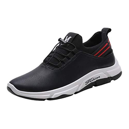 Herren Sneaker Leder,Dasongff Rutschfeste Turnschuhe Sportschuhe,Männer Laufschuhe Trainer,Atmungsaktiv Schnürer Running Shoes Wanderschuhe