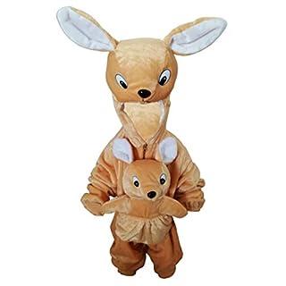 Känguru-Kostüm, F29 Gr. 104-110, für Kinder, Känguru-Kostüme Kängurus für Fasching Karneval, Klein-Kinder Karnevalskostüme, Kinder-Faschingskostüme, Häschen-Kostüm als Geburtstags-Geschenk