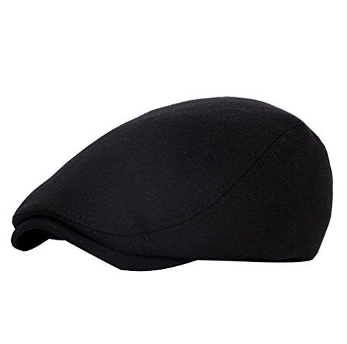 ACVIP Casquette Plate Visière Béret Chapeau Hat Unisexe Style Quatre Saisons Voyage, 4 Couleurs, Taille Unique