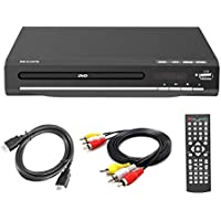Lecteur de DVD 225 mm pour Le Divertissement à Domicile et l'apprentissage, Prise en Charge de la Sortie HDMI / AV, entrée USB, avec télécommande (Ne supporte Pas Les disques Blu-Ray)