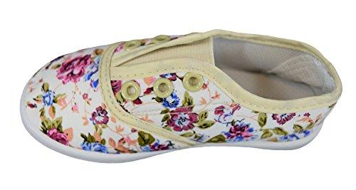 S&LU süße Mädchen-Slipper Slip-On-Sneaker mit tollem Blumenmuster Größe 24 - 35 Blau